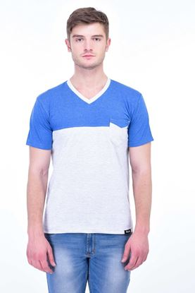 Picture of The Dry State Men's Cotton Half Sleeve T-Shirt(HS05161002-$P_Blue & White)