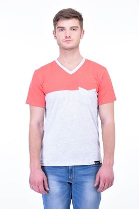 Picture of The Dry State Men's Cotton Half Sleeve T-Shirt(HS05161001-$P_Red & White)