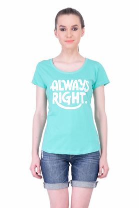 Picture of The Dry State Women's Half Sleeve Cotton Top(HS05160006-$P_Green)