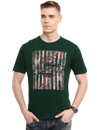 Picture of IOBE-Cotton Round Neck Half Sleeve-CSMHS-RN0001$Green