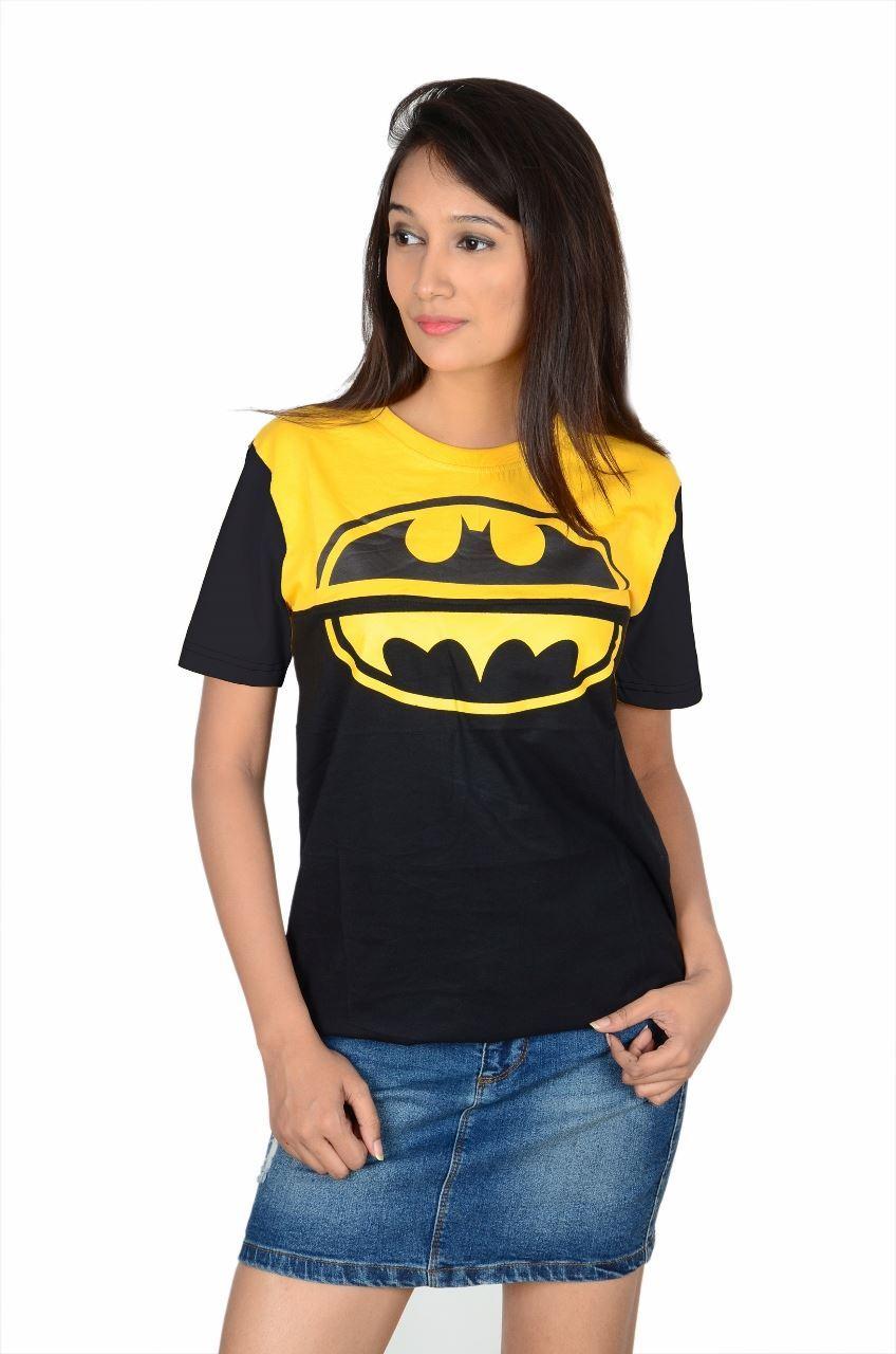 8426d7911 The Dry State Women's Half Sleeve Cotton T-Shirt(GTSDW125-$P_Yellow-Black)